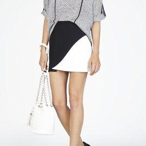 BCBG Max Azria Skirt Black White Colorblock Size 6